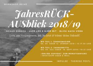 Workshop-Reihe: JahresRÜCK+AUSblick 2018/19 @ retreat:vienna | Wien | Wien | Österreich